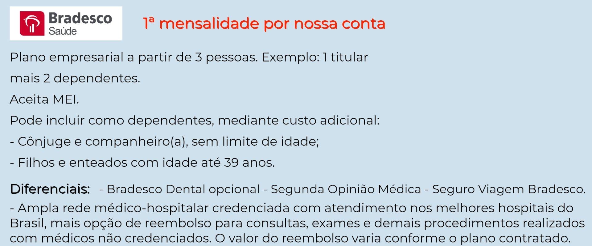 Bradesco Saúde Empresarial - Pitangueiras