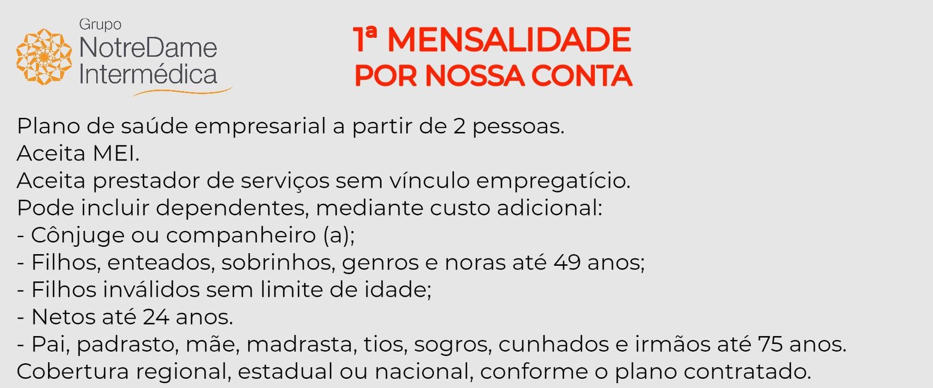GNDI - Grupo Notredame Intermédica Empresarial em Cosmópolis