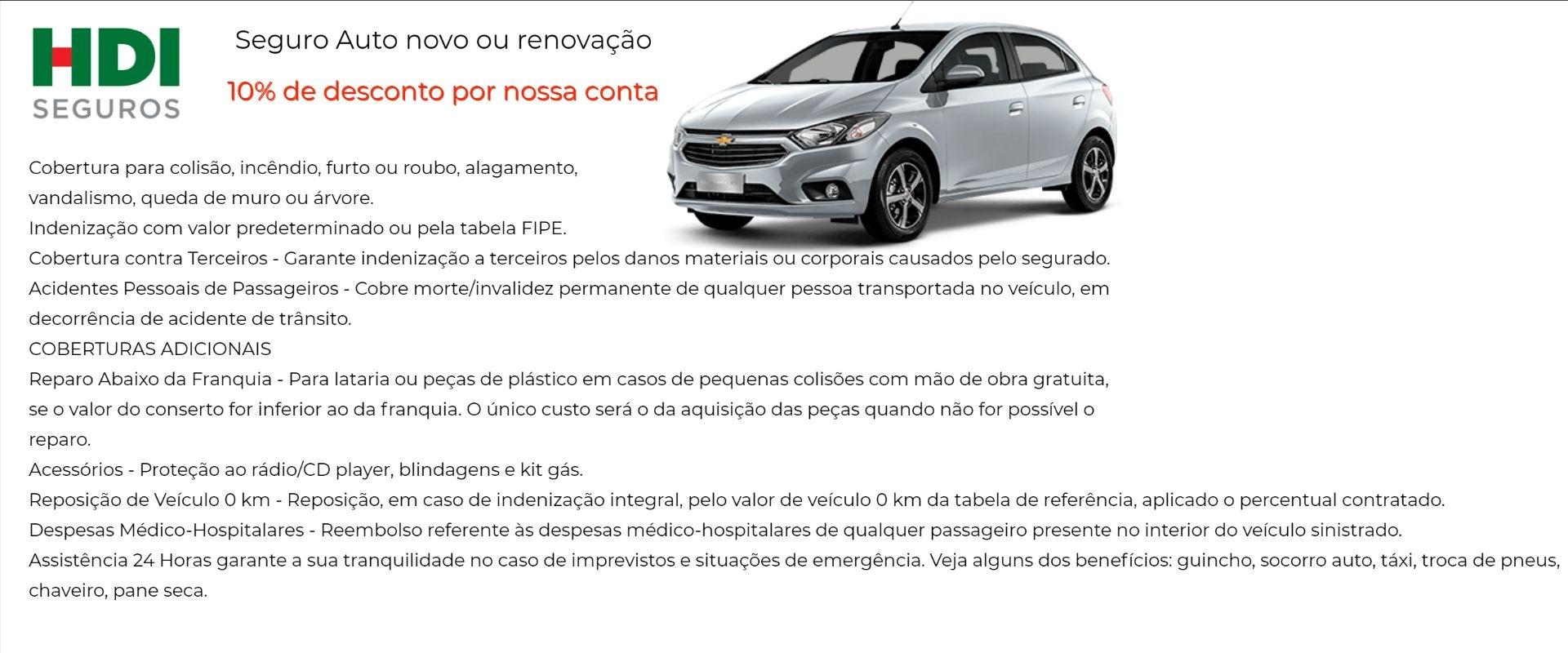 HDI Seguro Auto com Desconto em Mogi-Guaçu