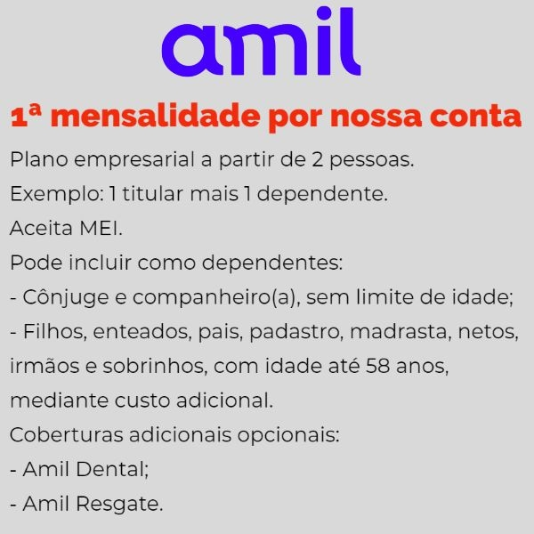 Amil Empresarial Atibaia e Bragança Paulista