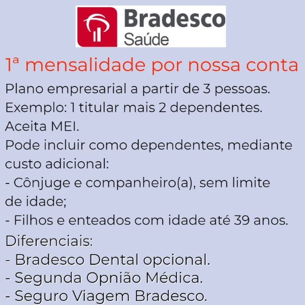 Bradesco Saúde Empresarial -Padre Bernardo