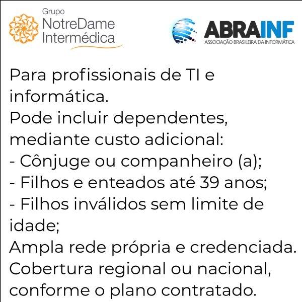 Notredame Intermédica Abrainf-SP