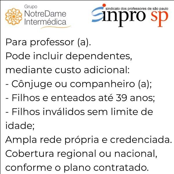 Notredame Intermédica Sinpro-SP